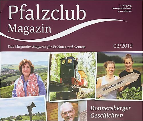 Das Weingut Janson Bernhard wird im Pfalzclub Magazin vorgestellt.